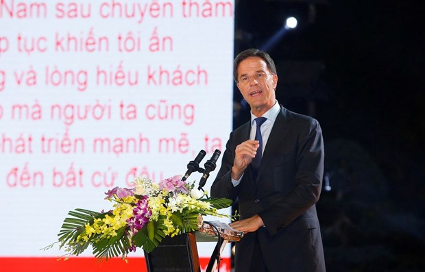 Dutch Prime Minister wraps up official visit to Vietnam hinh anh 1