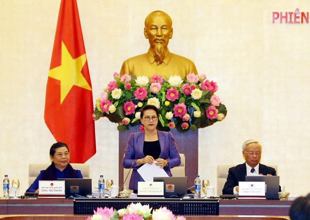 National Assembly Standing Committee opens 33rd meeting hinh anh 1