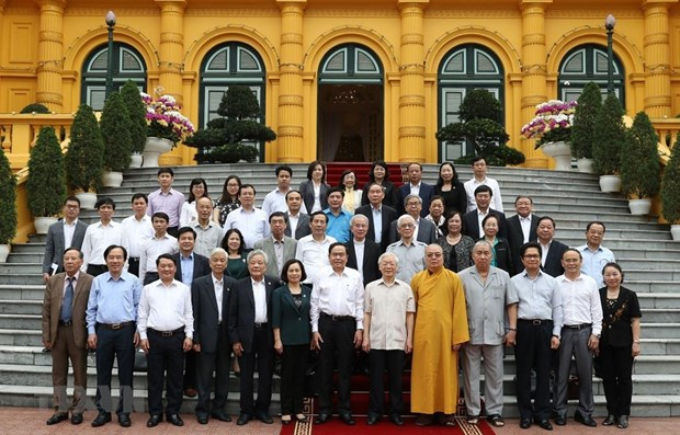 Top leader hails front's role in strengthening solidarity hinh anh 1