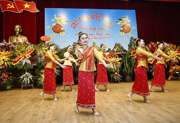 Lao Embassy hosts traditional New Year celebration in Hanoi hinh anh 1