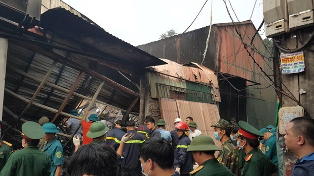 Deputy PM asks to clarity Hanoi workshop blaze cause hinh anh 1