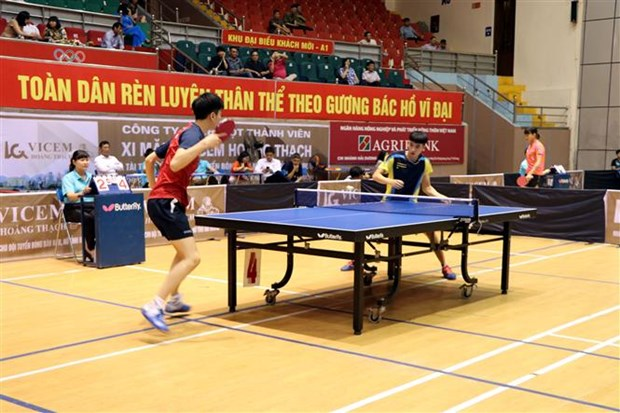 Int'l table-tennis tourney kicks off in Hai Duong hinh anh 1