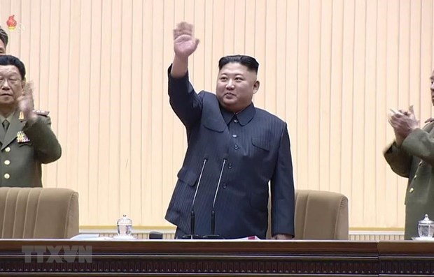 Congratulations to Kim Jong-un on re-election as head of DPRK state panel hinh anh 1