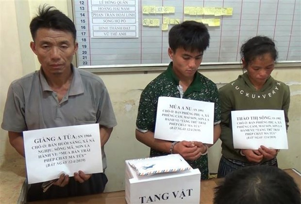 Three arrested with over 7,000 meth pills in Son La hinh anh 1