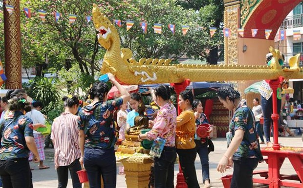 Traditional New Year celebration in full swing in Laos hinh anh 1