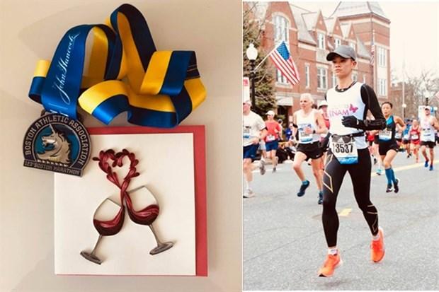 First Vietnamese woman completes Boston Marathon hinh anh 1