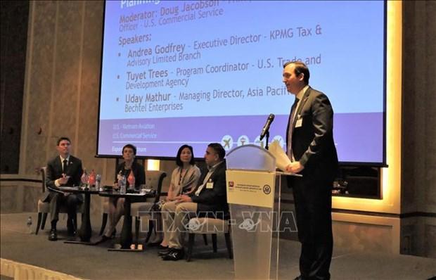 Vietnam, US talk collaboration in airport infrastructure development hinh anh 1