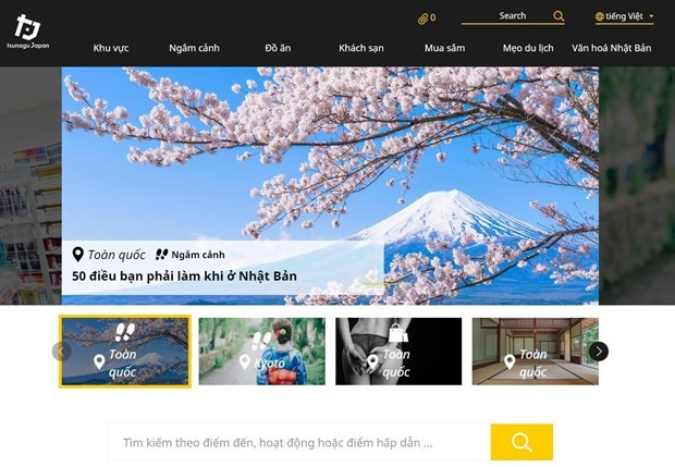 Japanese travel website inaugurates Vietnamese version hinh anh 1