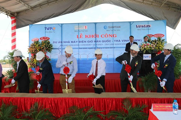 Work starts on Korea-Tra Vinh wind farm project hinh anh 1