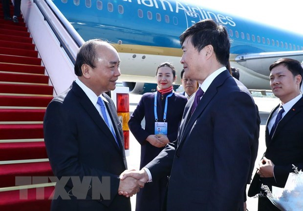 PM arrives in Beijing for second Belt and Road Forum hinh anh 1