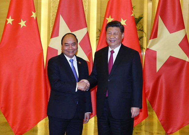 PM Phuc meets Chinese Party chief and President Xi Jinping in Beijing hinh anh 1