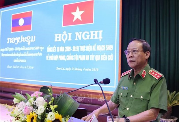Son La reviews 10-year anti-drug trafficking with north Laos hinh anh 1