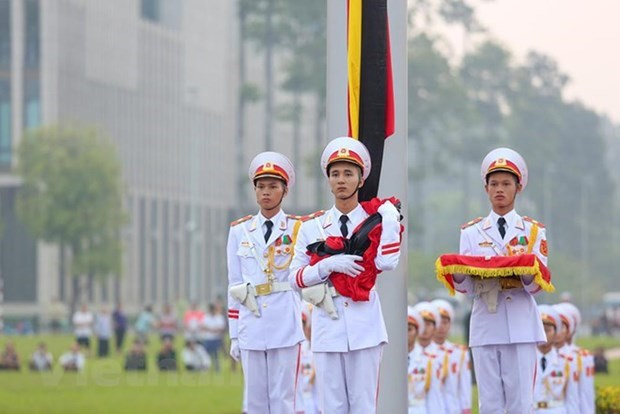 Flag to be flown at half staff during national mourning of former President hinh anh 1
