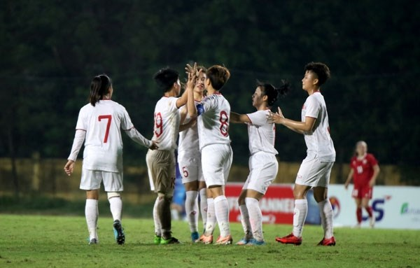 Vietnam thrash Lebanon 4-1 in AFC U-19 women's qualifiers hinh anh 1