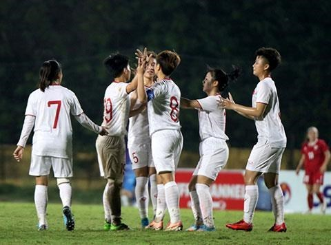 Vietnamese U19 women's team advance to Asian champ's final round hinh anh 1