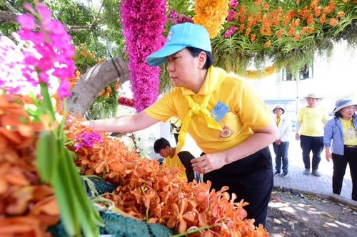 Thailand: Floral decorations along procession route hinh anh 1