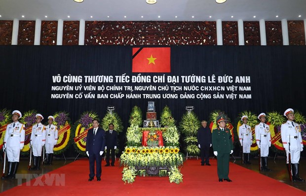 Funeral Board, family of former President Le Duc Anh offer thanks hinh anh 1