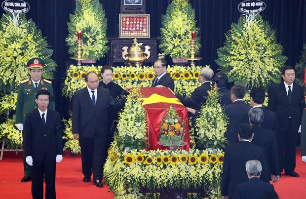 Memorial service held for former President Le Duc Anh hinh anh 1