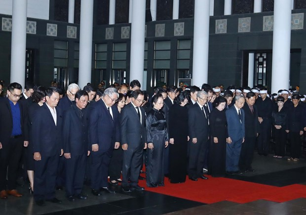 State funeral held for former President General Le Duc Anh hinh anh 1