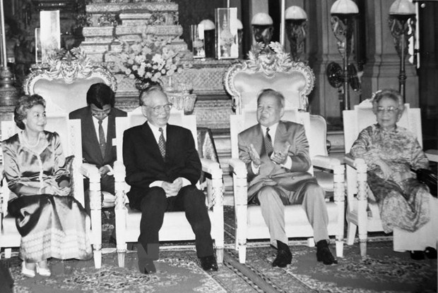 Foreign leaders extend condolences over death of former President hinh anh 1