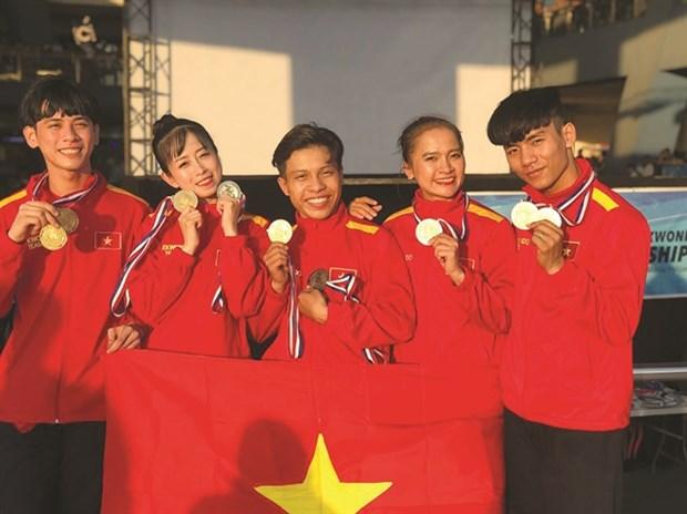 Vietnam wins 72 medals at ASEAN Taekwondo Championship hinh anh 1