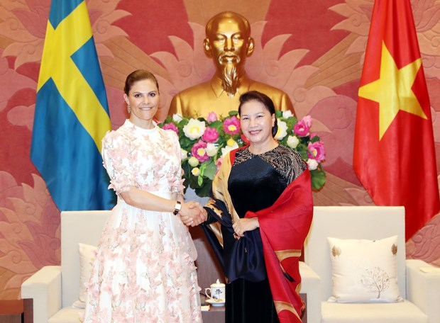 NA leader welcomes Crown Princess of Sweden in Hanoi hinh anh 1
