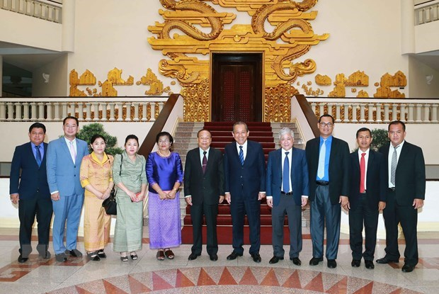 Deputy PM receives Cambodian religion minister hinh anh 1