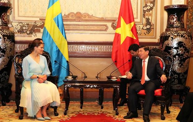 HCM City leader receives Swedish Crown Princess hinh anh 1
