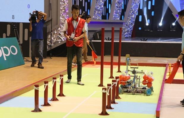 2019 Vietnam Robocon enters final round in Hai Duong hinh anh 1