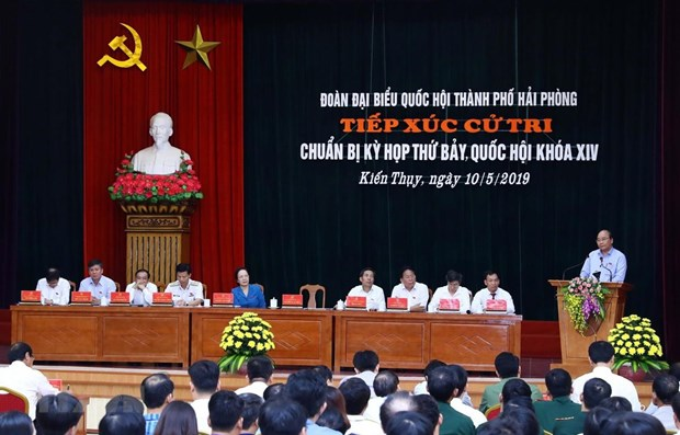 Hai Phong voters concerned about problems facing national economy hinh anh 1