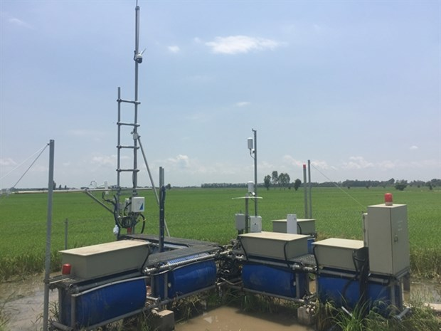 Station to monitor greenhouse gas emissions set up hinh anh 1