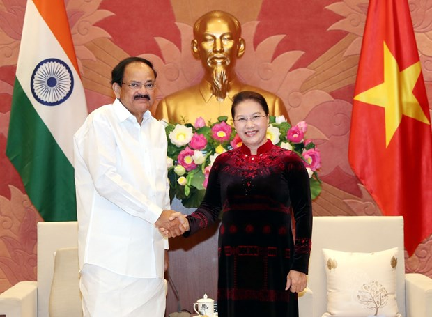 NA Chairwoman welcomes Indian Vice President hinh anh 1