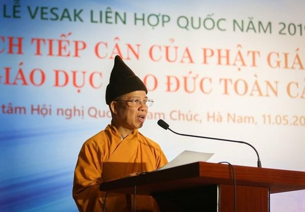 Vesak 2019: Buddhist philosophy, ethics education discussed hinh anh 1