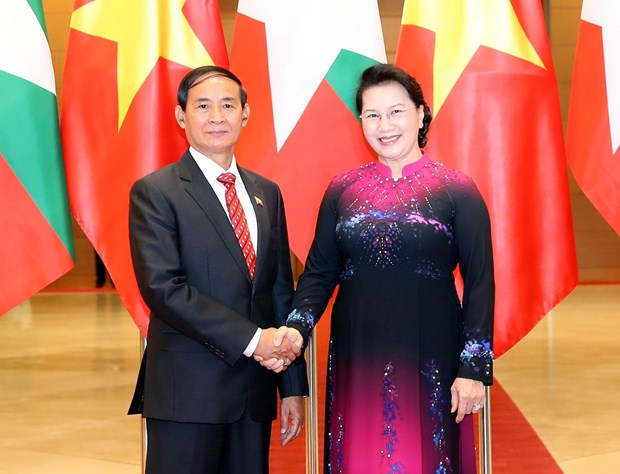 Top legislator meets with Myanmar President hinh anh 1