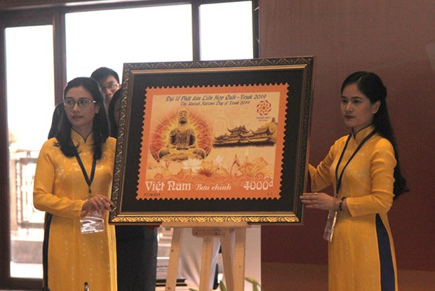 Postage stamp launched to mark UN Day of Vesak 2019 hinh anh 1