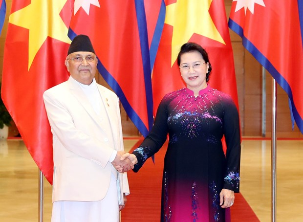 NA Chairwoman meets with Nepalese Prime Minister hinh anh 1