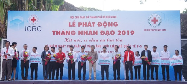 HCM City launches month for humanitarian activities hinh anh 1
