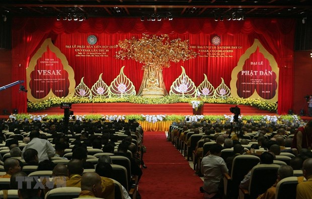 UN Day of Vesak 2019 solemnly opens in Ha Nam province hinh anh 1