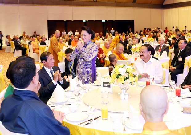 NA leader hosts banquet in hounour of delegates to UN Day of Vesak hinh anh 1