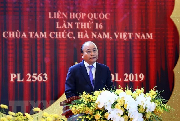UN Day of Vesak 2019 solemnly opens in Ha Nam province hinh anh 4