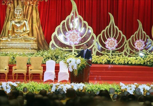Official hosts Buddhism delegations from China, Laos, Cambodia, Thailand hinh anh 1