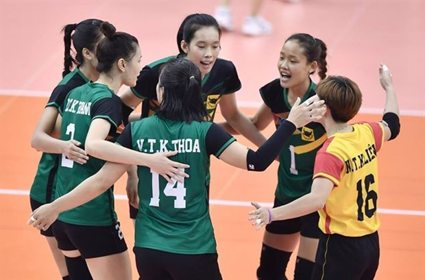 Binh Dien Long An beat Thailand's U23 team in int'l volleyball tourney hinh anh 1