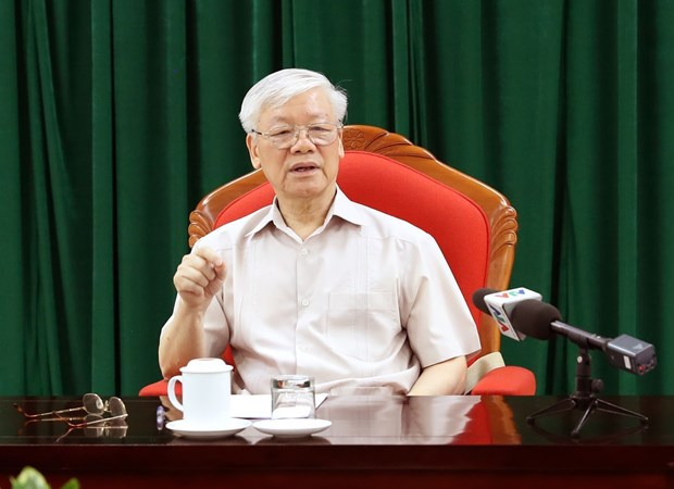 Party chief, President Nguyen Phu Trong chairs key officials' meeting hinh anh 1