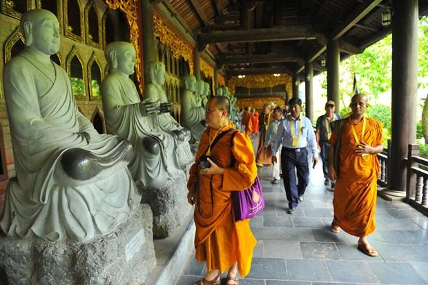 Vesak celebration participants visit Ninh Binh province hinh anh 1