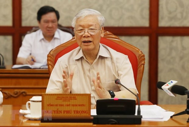 Party leader, President presides over Political Bureau's meeting hinh anh 1