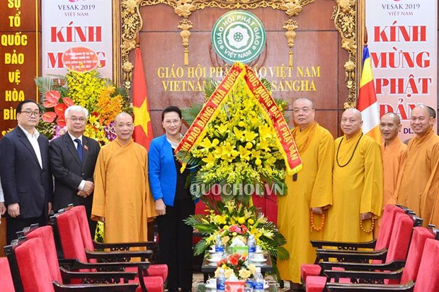 Vesak 2019 helps to promote Vietnam's image: NA Chairwoman hinh anh 1