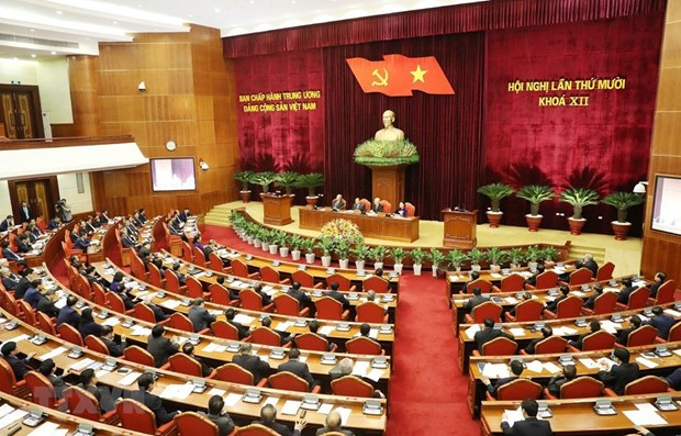 First working day of Party Central Committee's 10th meeting hinh anh 1