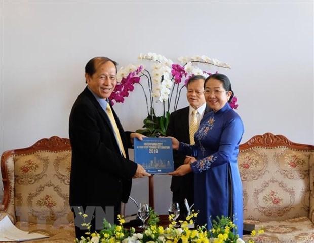HCM City vows to help nurture Vietnam-Cambodia friendship hinh anh 1