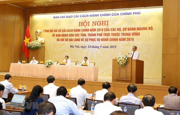 Quang Ninh, central bank lead 2018 administrative reform index hinh anh 1