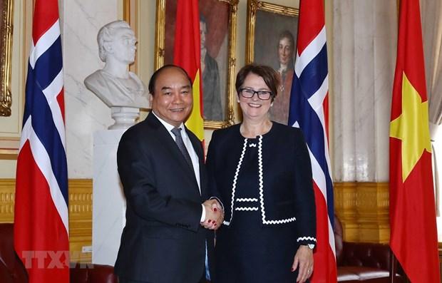 Vietnamese PM meets with top Norwegian legislator hinh anh 1
